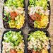 No-Cook Meal Prep Burrito Bowls #lunch #mealprep