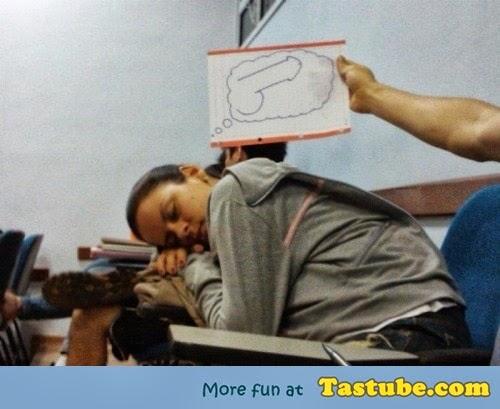 girl dreaming in class