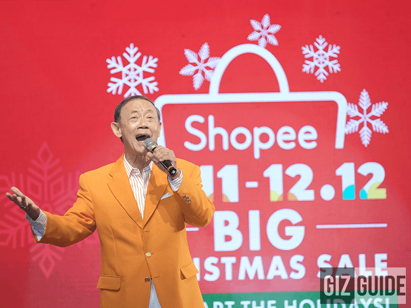 Jose Marie Chan singing his signature Christmas Carols during the Shopee 11.11 launch event!