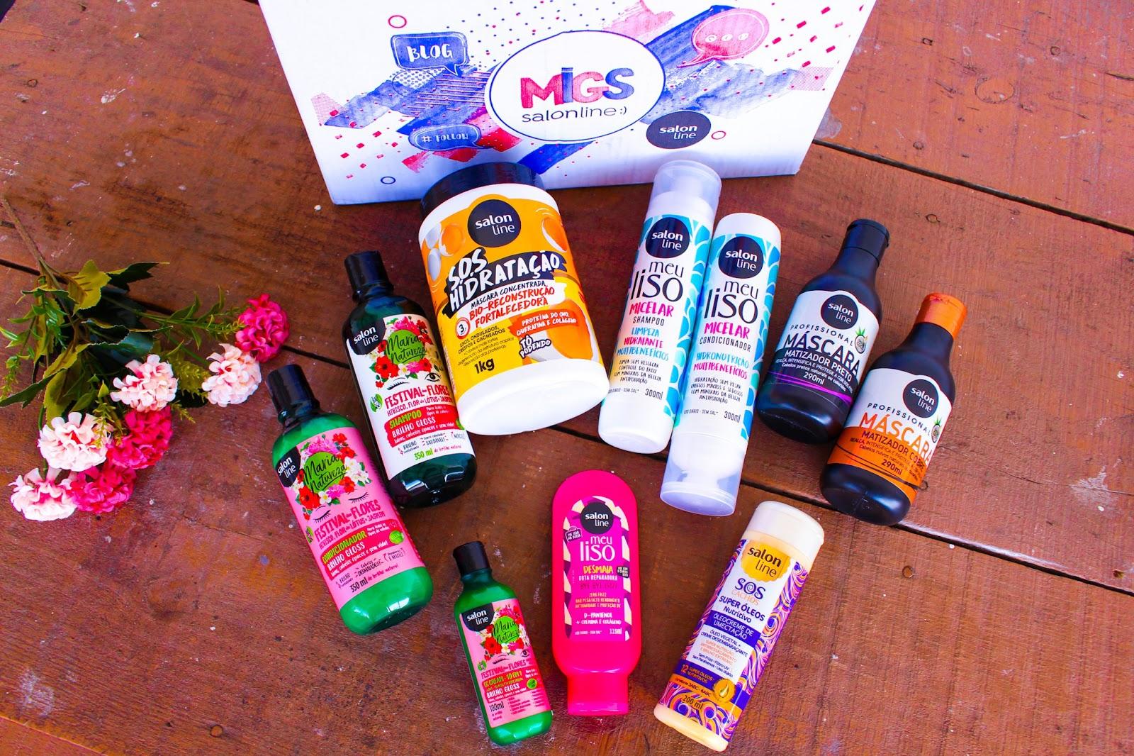 Recebidos do mês de Março da Salon Line #Migs