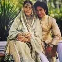 Saif Ali Khan with her ex-wife amrita singh