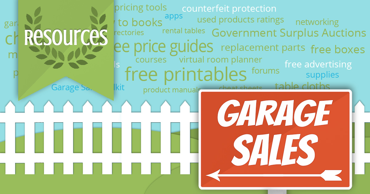 Garage Sale Resources