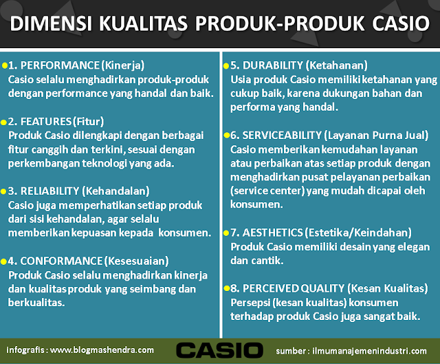 Dimensi Kualitas Produk-Produk Casio - Blog Mas Hendra