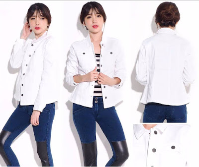 baju JJill White Denim Jacket online