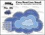 Set van 4 stansen om wolken met dubbele stippen te maken. Set of 4 dies to make clouds with double dots.