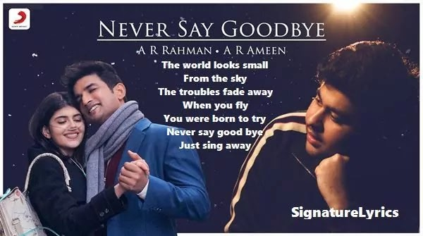 Never Say Goodbye Lyrics - DIL Bechara 2020 - A R Rahman - A R Ameen