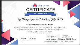 Top Blogger July 2021