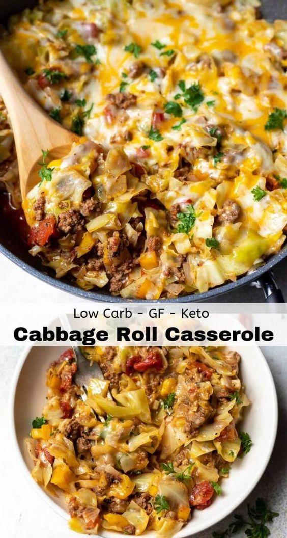 Low Carb Unstuffed Cabbage Casserole Recipe