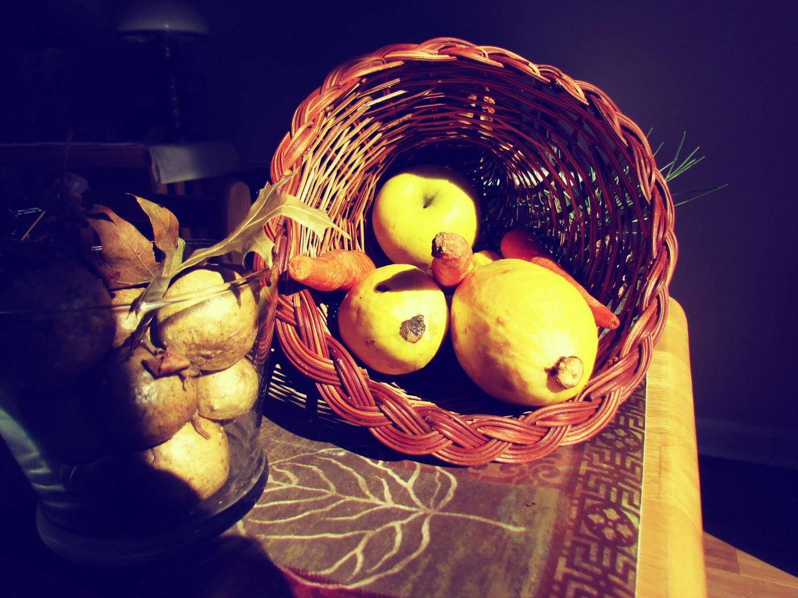 An abundant wicker cornucopia of raw, organic vegetables farm to table fresh