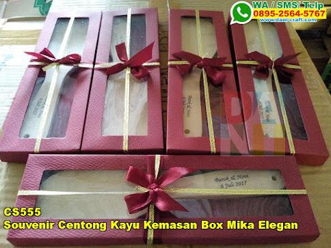 Grosir Souvenir Centong Kayu Kemasan Box Mika Elegan