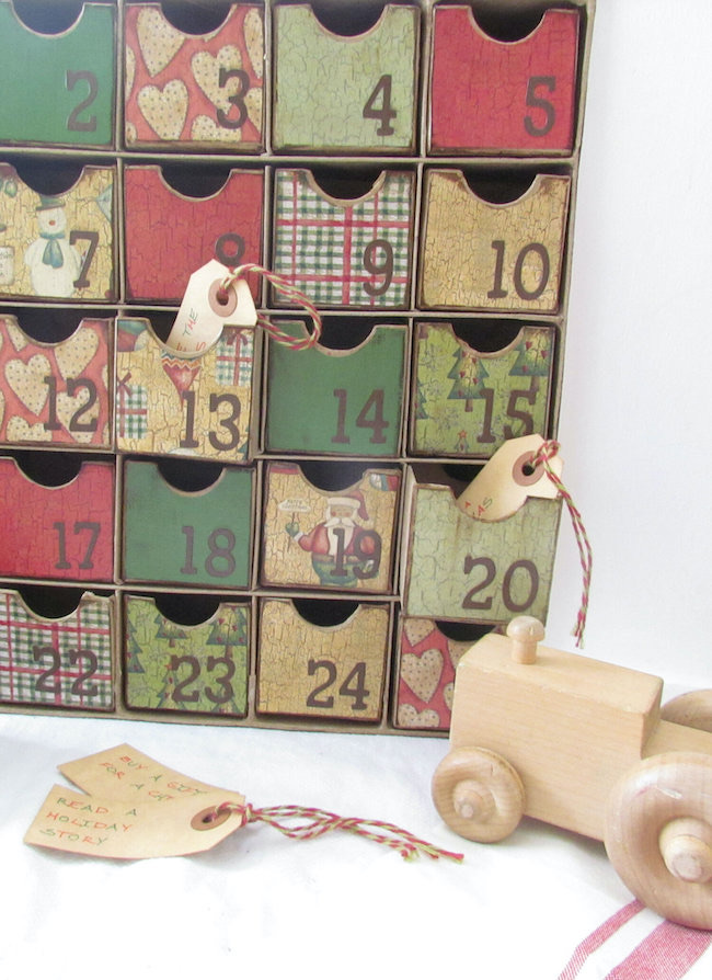 Our Countdown to Christmas Box by Sheep Shop featured at Pieced Pastimes