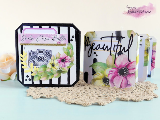Scrapbooking: Mini album in scatola riciclata