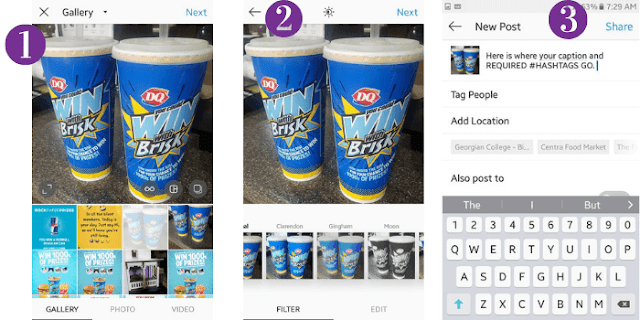 How to upload a picture to instagram