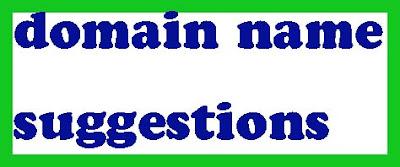 domain name suggestions डोमेन सुझाव जाने