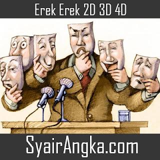 Erek Erek Menjadi Politikus 2D 3D 4D