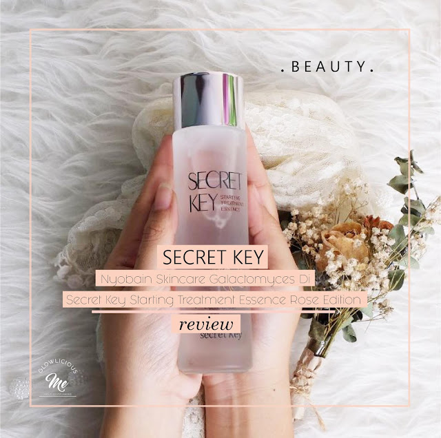 Nyobain Skincare Galactomyces Di Secret Key Starting Treatment Essence Rose Edition