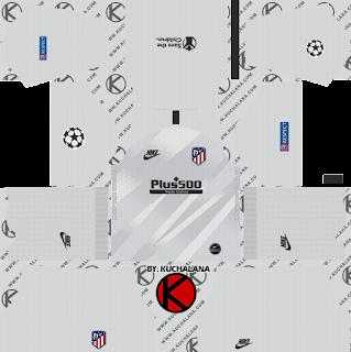 Atletico Madrid 2019/2020 champions league Kit - Dream League Soccer Kits