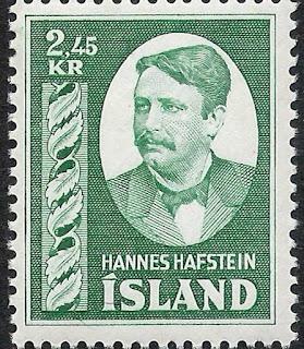 Iceland 1953 2.45k Hannes Hafstein