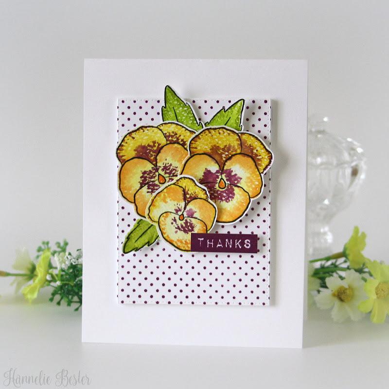 Altenew pretty pansies