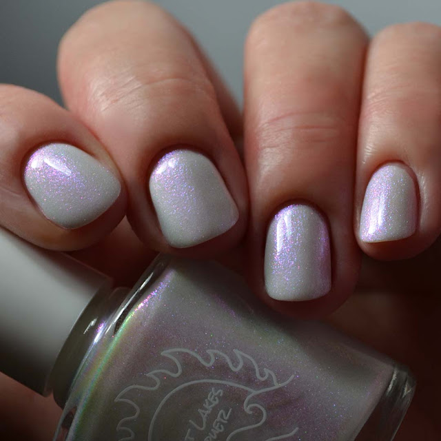 pearlescent white color shifting nail polish