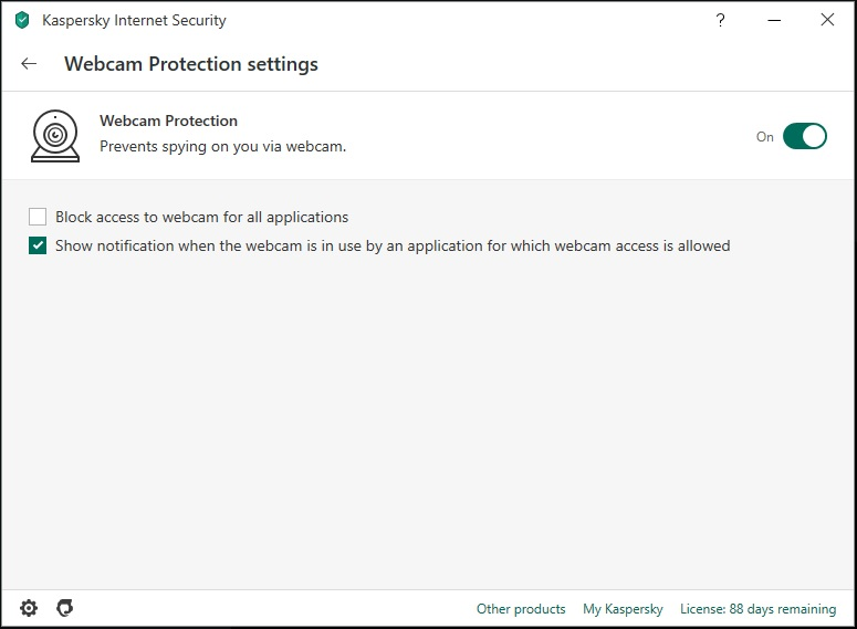 KIS - Webcam Protection
