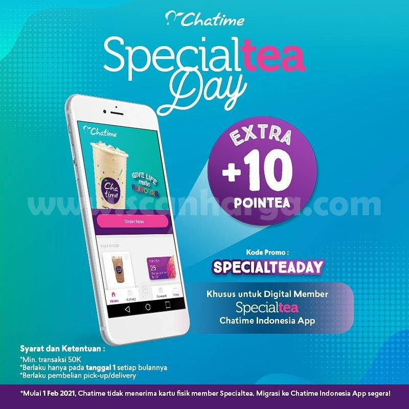 Chatime Specialtea Day! Extra +10 Pointea