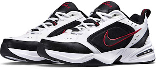 Nike Men's Air Monarch Iv White/Black Leather Training Shoes
