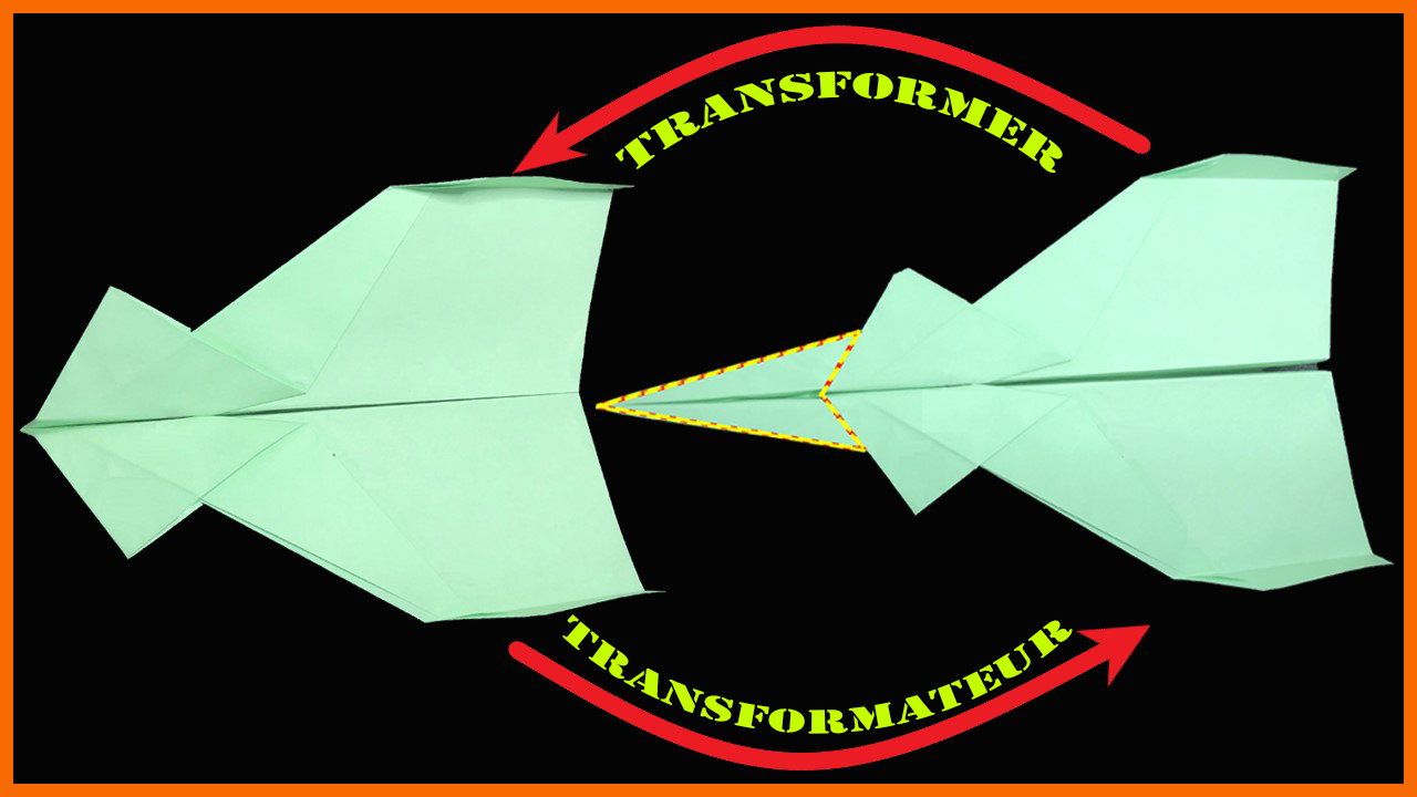 Cách gấp xếp máy bay Biến hình bằng giấy origami