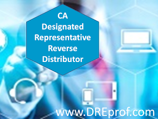 The only Board-approved California Designated Representative online training course approved for reverse distributors. Earns a training affidavit accepted by the California State Board of Pharmacy.