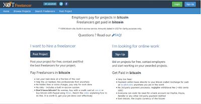 XBTFreelancer - Opciones de trabajo freelance pagadas con Bitcoin