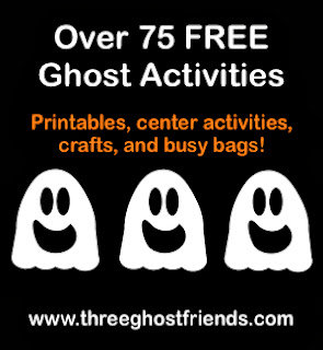 Free ghost crafts and activities and recipes for halloween