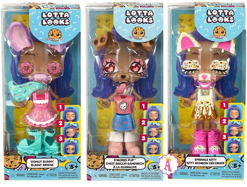 Куклы Lotta Looks в виде животных со сменными выражениями лица Mattel