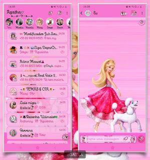 Dog & Girl Theme For YOWhatsApp & RA WhatsApp By Agatha