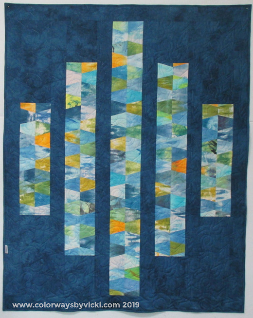 Bars and Stripes Quilt designed by Vicki Welsh of Colorways