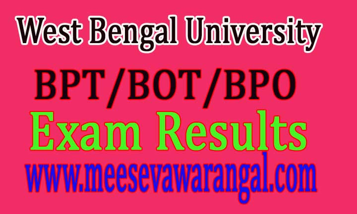 West Bengal University Of Health Sciences-Notice For Holding IIIrd BPT/BOT/BPO 2016 Exams
