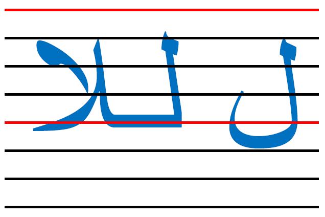x2 - المقاييس الصحيحة  في الكتابة لكل الحروف العربية
