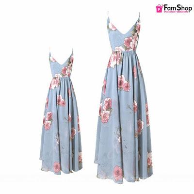 Váy maxi mẹ và bé gái V543