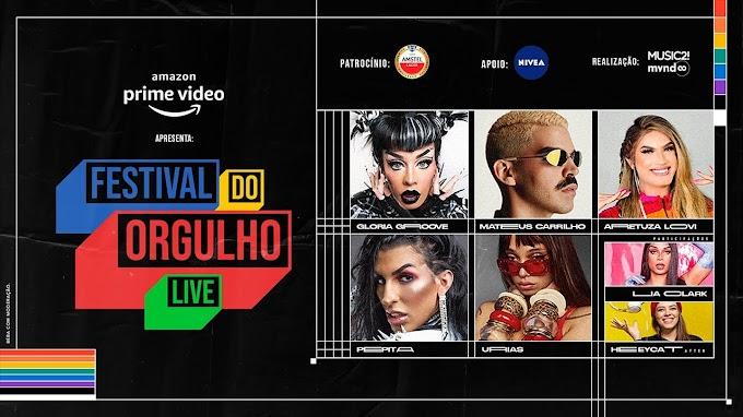 """Amazon Prime promove """"Festival do Orgulho"""", com Glória Gloove, Pepita e Urias"""