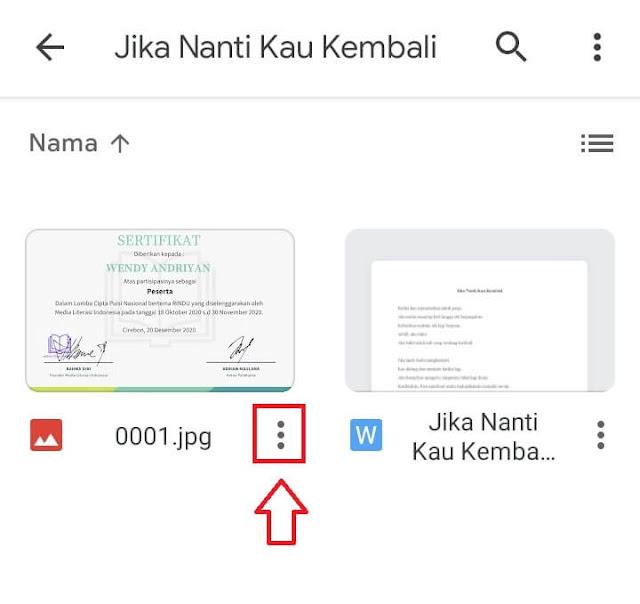 Cara Download File di Google Drive Lewat HP Android