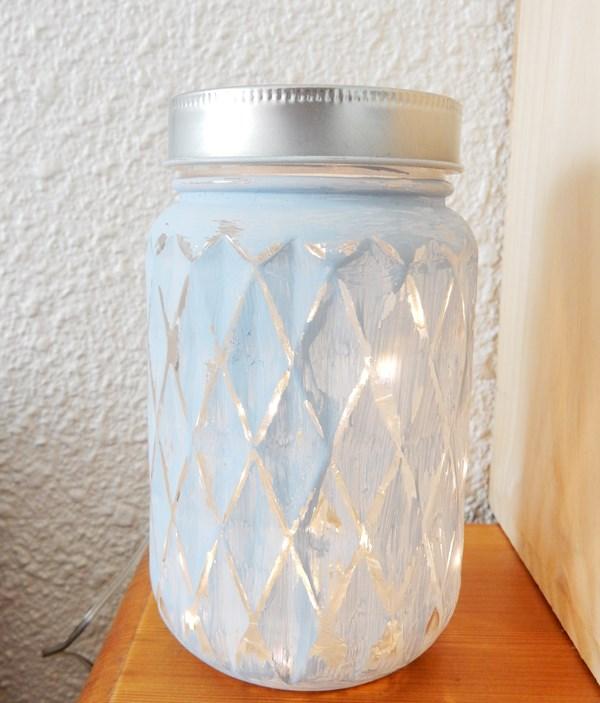DIY mason jar veilleuse