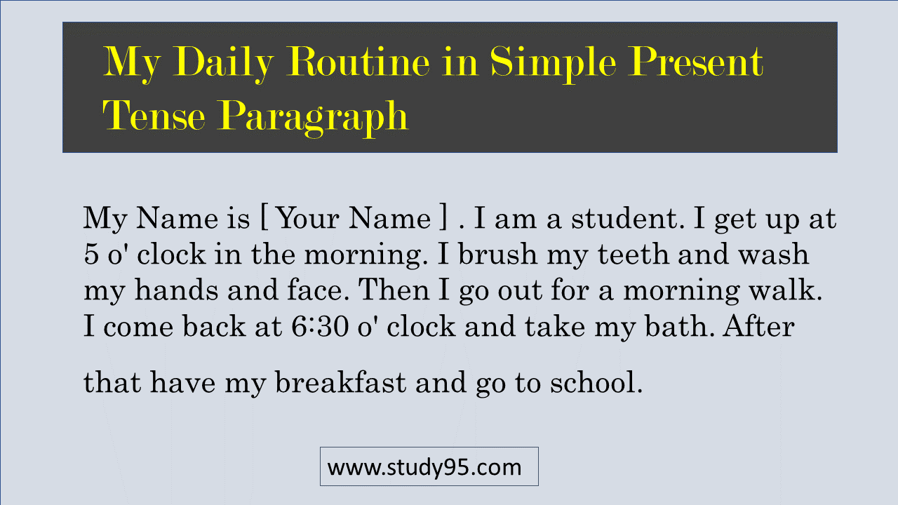 My daily routine in English