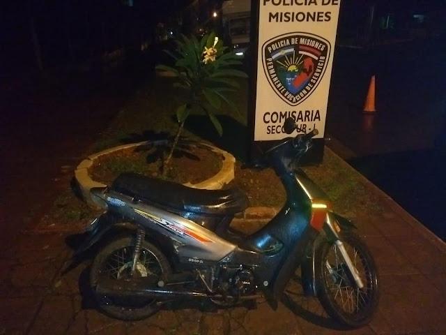 POSADAS : Motocicleta robada fue recuperada