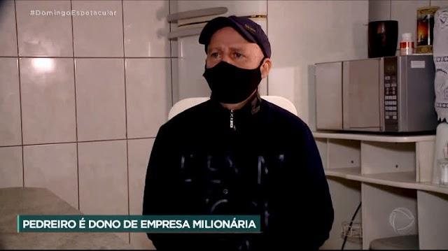 Pedreiro descobre que é dono de empresa envolvida em fraude de R$ 200 milhões