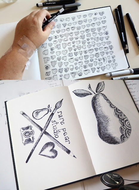 sketchbooks, Sketchbook Conversations, Shani Nottingham, Rare Pear Studio,  My Giant Strawberry