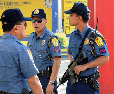 Philippine police officers