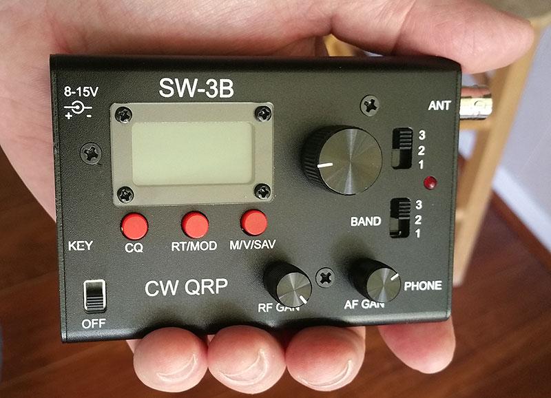 AE5X: SW-3B QRP transceiver received