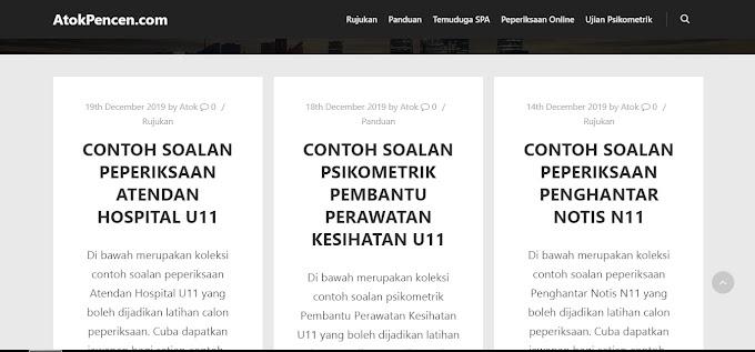 Koleksi Contoh Soalan Terbaik Peperiksaan Online SPA Dan Psikometrik Jawatan Kosong Kerajaan Di AtokPencen.com