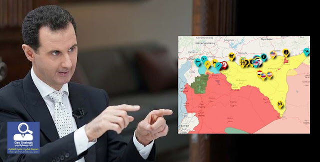 """رأس النظام السوري """"بشار الاسد"""" ينفي وجود قضية كردية والإدارة الذاتية ترد بشدة"""