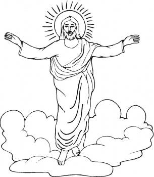 Portal Escuela Dibujo para pintar el Domingo de Pascua de
