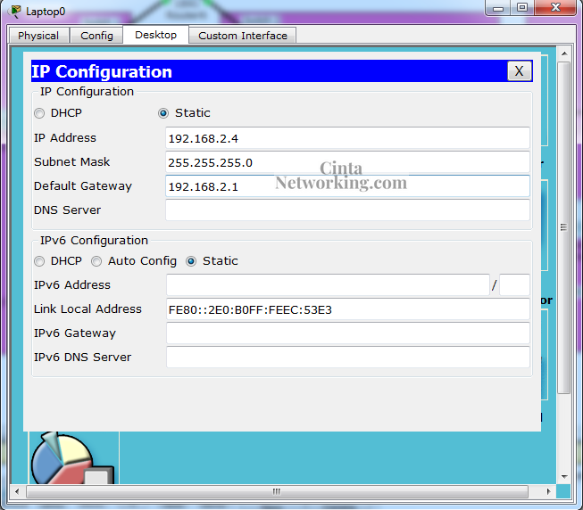 Cara Membuat Jaringa WirelessWifi di Cisco Packet Tracert Dengan Mudah - Cintanetworking.com